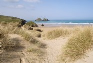 Just a hop, skip and a jump to Holywell Bay beach