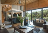 Enjoy the woodland views from the open-plan living area at Montana