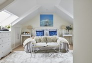 The bright master bedroom