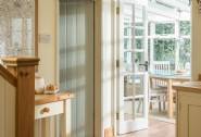 Calming hues reflect the relaxing ambience at Old fox Cottage