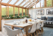 Dine together in the conservatory