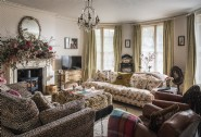 The main living room filled with gorgeous antique finds