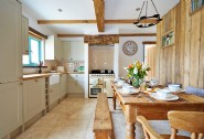 Farmhouse-style family kitchen with Range cooker