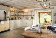 The traditional country kitchen with the AGA is the heart of the home