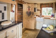 The country kitchen with Aga