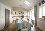 The open plan kitchen-diner