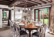 The big dining table in Roserai seats up to 12 guests for family meals