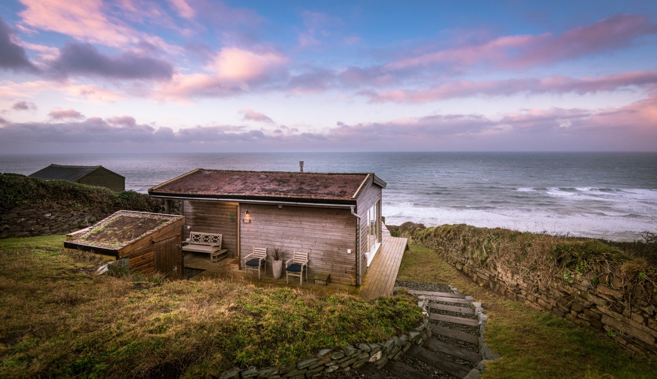 Whitsand Bay beach hut, Seaglass, in Cornwall for sale