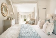 The stylish double bedroom with a king-size bed