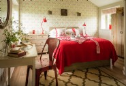 The thoughtfully-designed bedroom at Somerby, north Cornwall