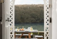 The front terrace is the perfect spot for dining al fresco