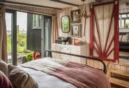 The bohemian master bedroom at Sundance