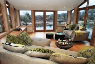 The garden room with views over the fresh water pool