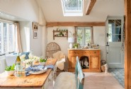 The light-filled kitchen, the perfect spot to enjoy the catch of the day