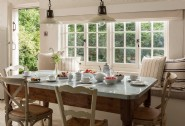 Dine together in the large open-plan kitchen