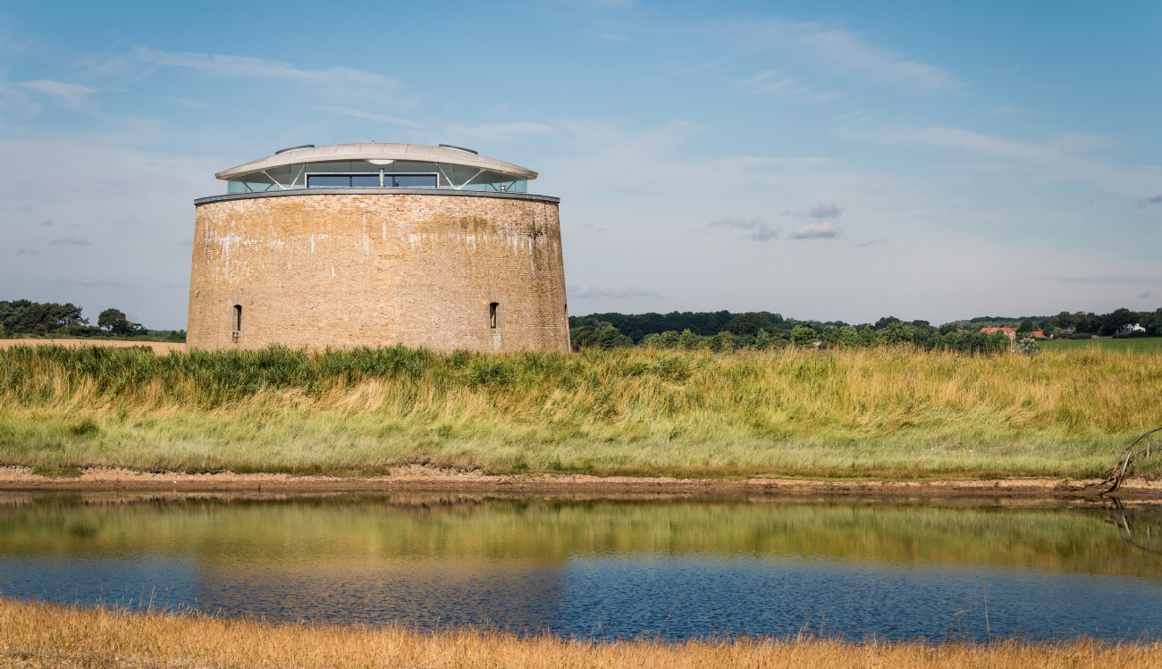 Luxury Self-Catering Martello Tower on the Suffolk Coast