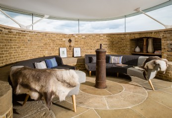 Luxury self-catering Martello Tower Y. in Suffolk