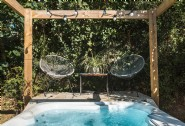 The perfect escape for couples, complete with bubbling hot tub