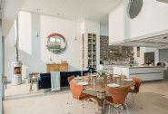 The open-plan living area is bright and spacious