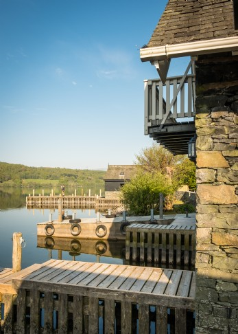 The Osprey boathouse with private mooring on Lake Windermere