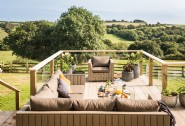 Enjoy views over the beautiful Fal Valley from the deck