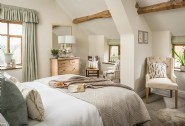 The light-filled master bedroom at The Wilds