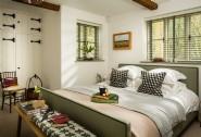Luxury ground floor double bedroom with woodland views