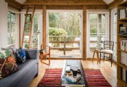 Relax with a book up at the garden house
