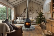 Curl up by the fire after opening a bundle of presents