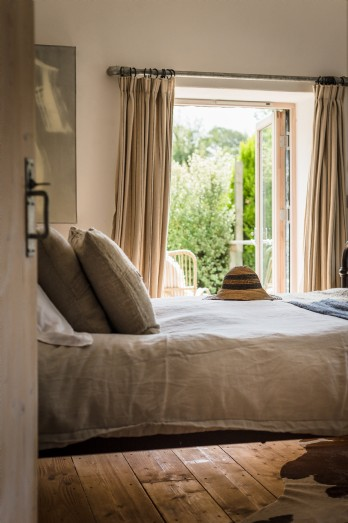 French doors lead from the bedroom to private deck, Cornwall