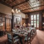 The wood-panelled dining room at Thornemead Castle