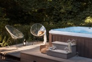 Enjoy a soak in the hot tub at Valency Wood
