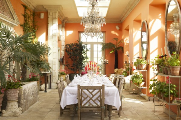 The Beguiling Orangery Bursting With Botanics Can Seat Up To 50 Guests