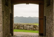 The stone archway welcomes guests to this luxury self-catering home in Dartmoor