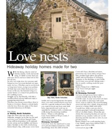 Love nests - hideaway holiday home made for two