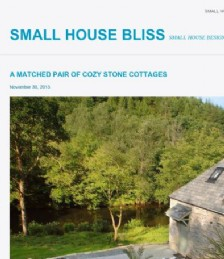 A MATCHED PAIR OF COSY STONE COTTAGES