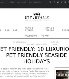 10 Luxurious Pet Friendly Seaside Holidays