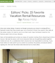 Editors´ Picks: 15 Favorite Vacation Homes