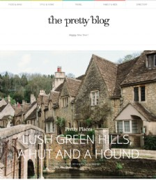 Lush green hills, The Beach Hut and a hound