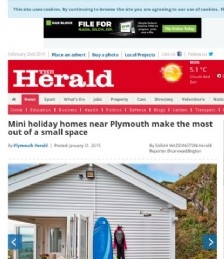 Mini holiday homes near Plymouth make the most out of a small space
