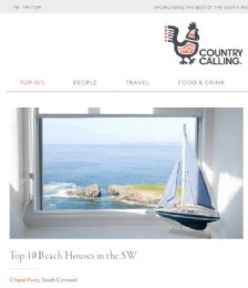 Top Ten Beach Houses in the South West