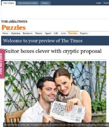 Suitor boxes clever with cryptic proposal