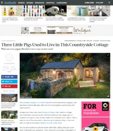 Three Little Pigs Used to Live in This Countryside Cottage