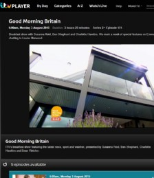 The Oyster Shell appears on Good Morning Britain