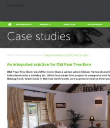 An integrated solution for Old Pear Tree Barn