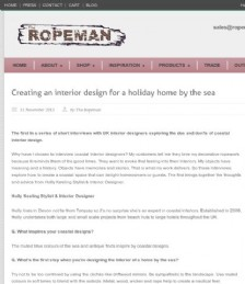 Creating an Interior Design for a Holiday Home by the Sea