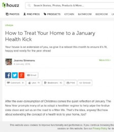 How to Treat Your Home to a January Health Kick