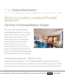 How to Create a Nautical Home Interior
