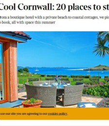Cool Cornwall; 20 Best Places to Stay