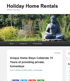 Unique Home Stays Celebrate 15 Years of Providing Private Homestays